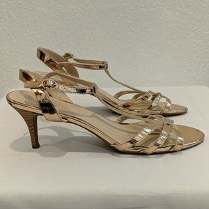 Seychelles Shoes - Seychelles Heritage Rose Gold Heeled Sandals
